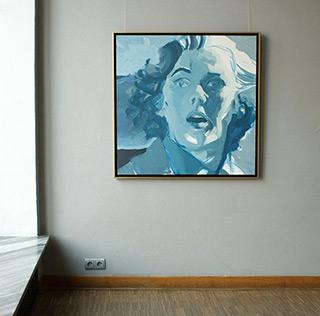 Katarzyna Swinarska : Fear and wind : Oil on Canvas