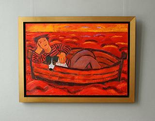 Krzysztof Kokoryn : Red boat : Oil on Canvas
