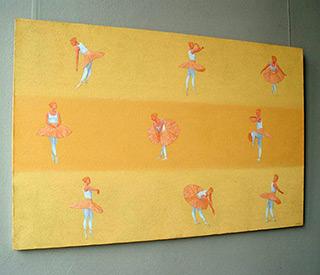 Mikołaj Kasprzyk : Ballet : Oil on Canvas
