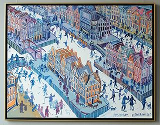 Edward Dwurnik : Amsterdam : Oil on Canvas
