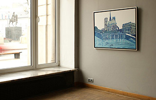 Edward Dwurnik : Warsaw Paris : Oil on Canvas