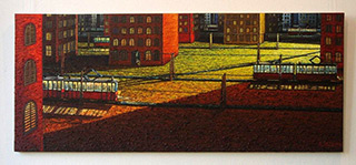 Adam Patrzyk : Siding track : Oil on Canvas