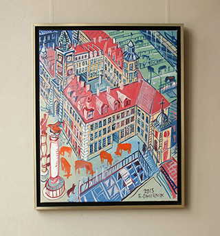 Edward Dwurnik : Warsaw Warsaw - Royale Castle : Oil on Canvas