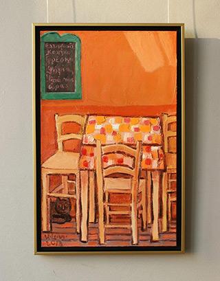 Krzysztof Kokoryn : Greek tavern : Oil on Canvas