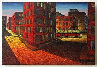 Adam Patrzyk : Last run : Oil on Canvas