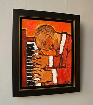 Krzysztof Kokoryn : Pianist : Oil on Canvas