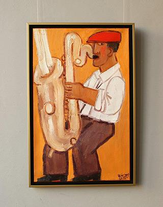 Krzysztof Kokoryn : Saxophone smoke : Oil on Canvas
