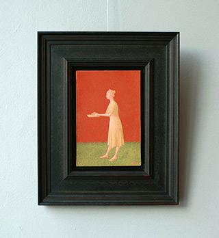Mikołaj Kasprzyk : Woman with cake : Oil on Canvas