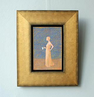 Mikołaj Kasprzyk : Woman with pot : Oil on Canvas