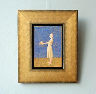Mikołaj Kasprzyk : Woman with tray : Oil on Canvas
