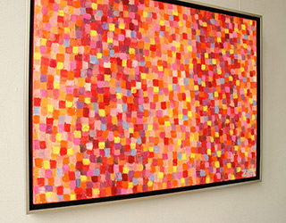 Zofia Matuszczyk-Cygańska : Horizontal pink : Oil on Canvas