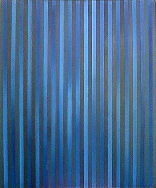 Anna Podlewska : Gray - Blue painting : Oil on Canvas