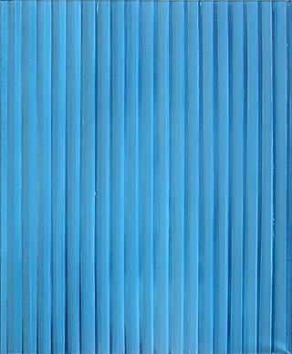 Anna Podlewska : Light blue painting : Oil on Canvas