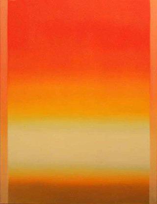 Anna Podlewska : Orange painting : Oil on Canvas