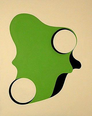 Anna Podlewska : White - Green painting I : Oil on Canvas