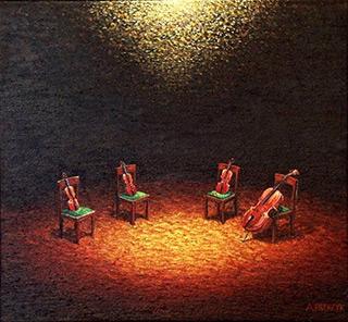 Adam Patrzyk : Quartet : Oil on Canvas