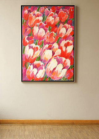 Beata Murawska : Wind in the tulips : Oil on Canvas