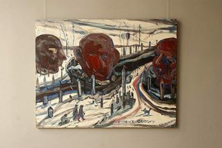 Edward Dwurnik : Winter heads : Oil on Canvas