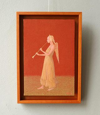 Mikołaj Kasprzyk : Angel : Oil on Canvas