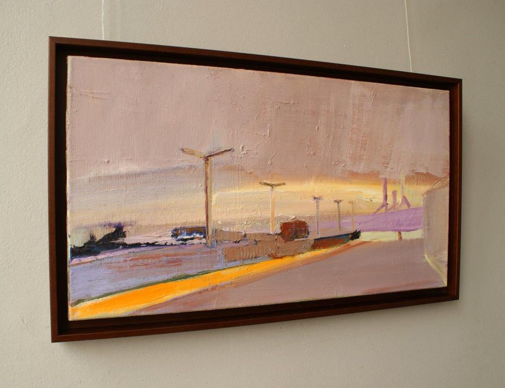 Piotr Bukowski : Purple town landscape
