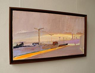 Piotr Bukowski : Purple town landscape : Oil on Canvas
