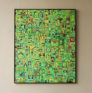 Krzysztof Pająk : Green painting : Oil on Canvas