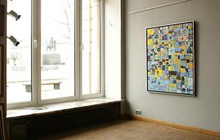 Krzysztof Pająk : Signs blue : Oil on Canvas