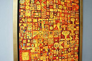 Krzysztof Pająk : Yellow painting : Oil on Canvas