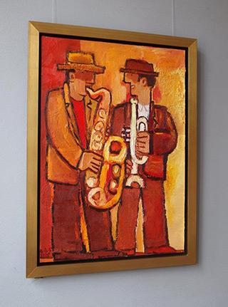 Krzysztof Kokoryn : Orange duo : Oil on Canvas