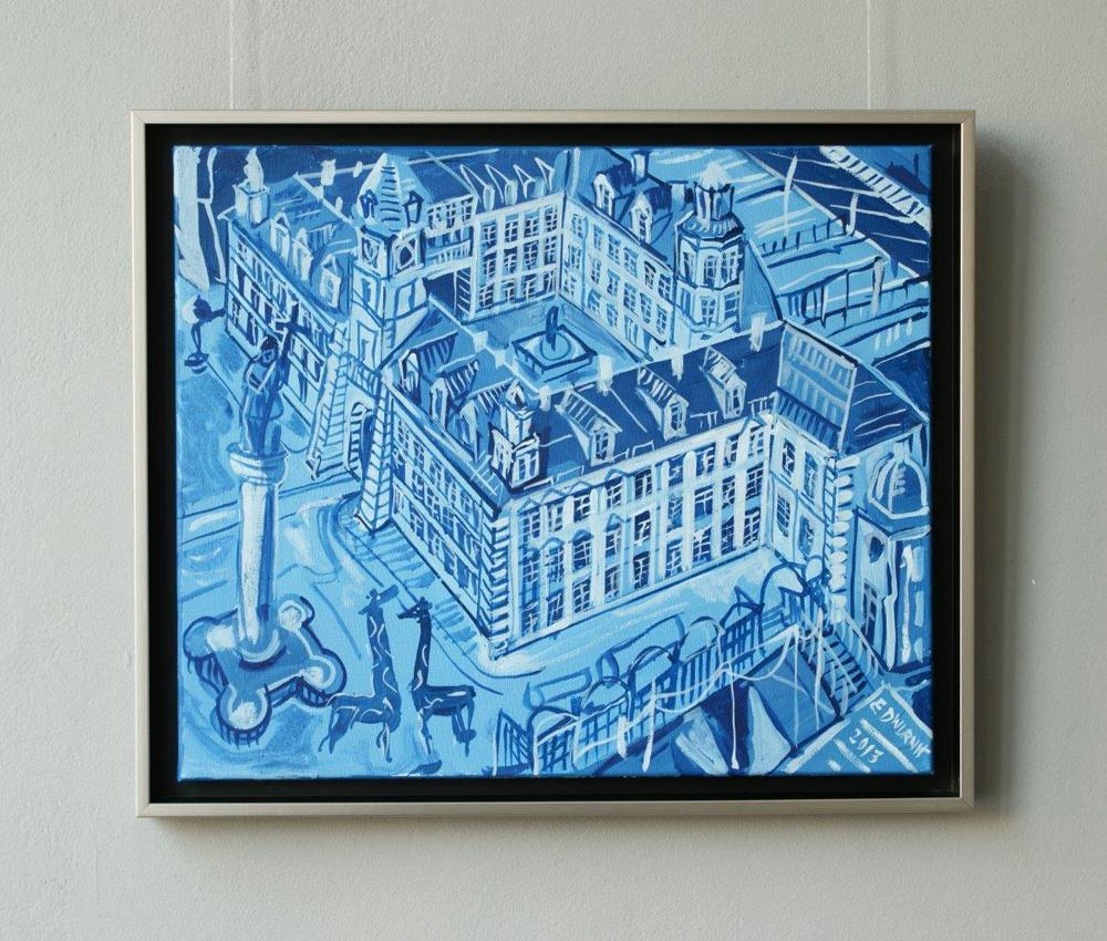 Edward Dwurnik : Castle - blue