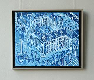 Edward Dwurnik : Castle - blue : Oil on Canvas