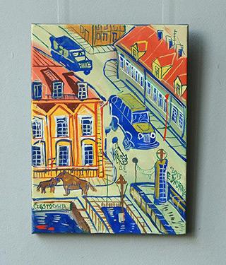 Edward Dwurnik : Częstochowa : Oil on Canvas