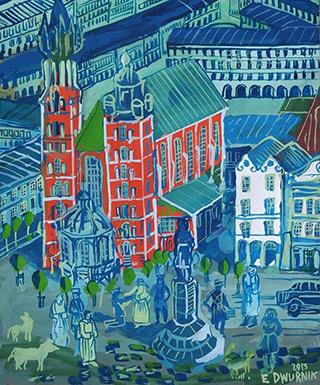 Edward Dwurnik : Krakow : Tempera on paper