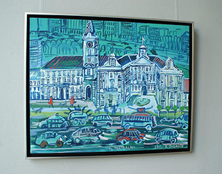 Edward Dwurnik : Plac Teatralny : Oil on Canvas