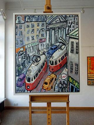 Krzysztof Kokoryn : Prague : Oil on Canvas