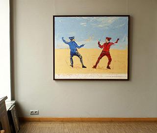 Jacek Łydżba : Fencing : Oil on Canvas