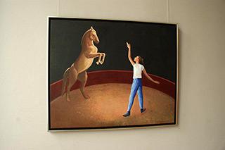 Katarzyna Karpowicz : Cirque show : Oil on Canvas