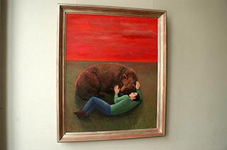 Katarzyna Karpowicz : Dream under the red sky : Oil on Canvas