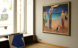 Katarzyna Karpowicz : Yellow jumpsuit : Oil on Canvas