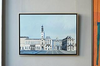 Maria Kiesner : Townhall : Oil on Canvas