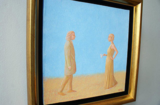 Mikołaj Kasprzyk : Bonjour monsieur Chopin : Oil on Canvas
