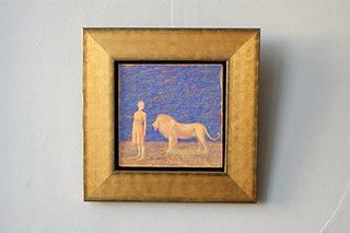 Mikołaj Kasprzyk : Women and a lion : Oil on Canvas