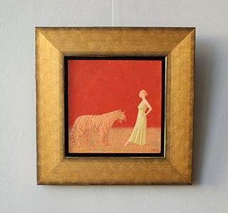 Mikołaj Kasprzyk : Women and the tiger : Oil on Canvas