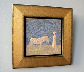 Mikołaj Kasprzyk : Women with zebra : Oil on Canvas