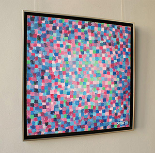 Zofia Matuszczyk-Cygańska : Pink blue : Oil on Canvas