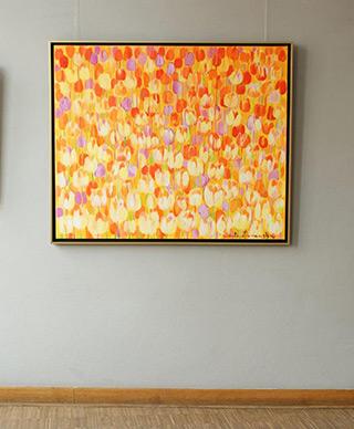 Beata Murawska : Yellow tulips field : Oil on Canvas