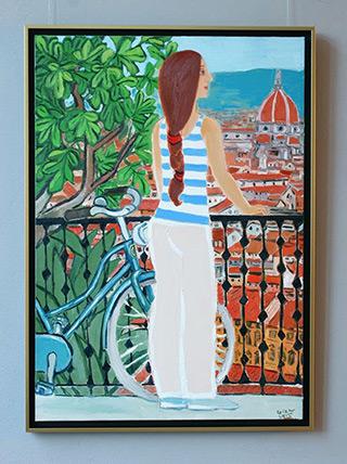 Krzysztof Kokoryn : Cycling around Florence : Oil on Canvas