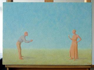 Mikołaj Kasprzyk : Little miror : Oil on Canvas