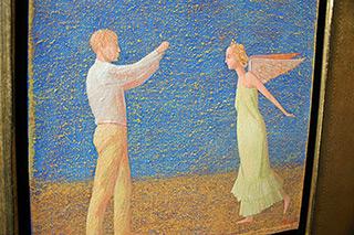 Mikołaj Kasprzyk : Shooting angel : Oil on Canvas