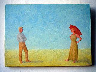 Mikołaj Kasprzyk : Rain : Oil on Canvas